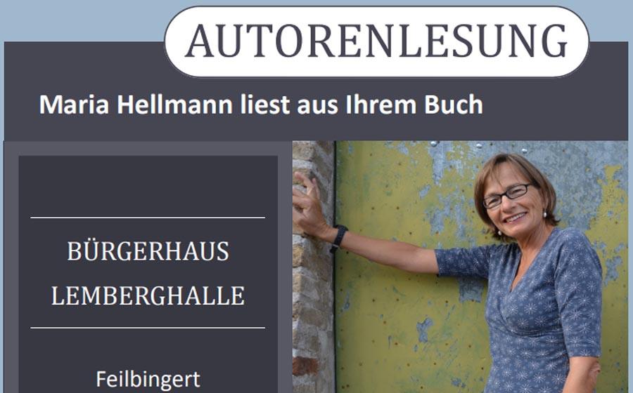Maria Hellmann liest aus Ihrem Buch