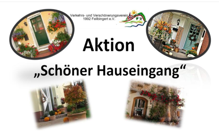 """Aktion """"Schöner Hauseingang"""""""