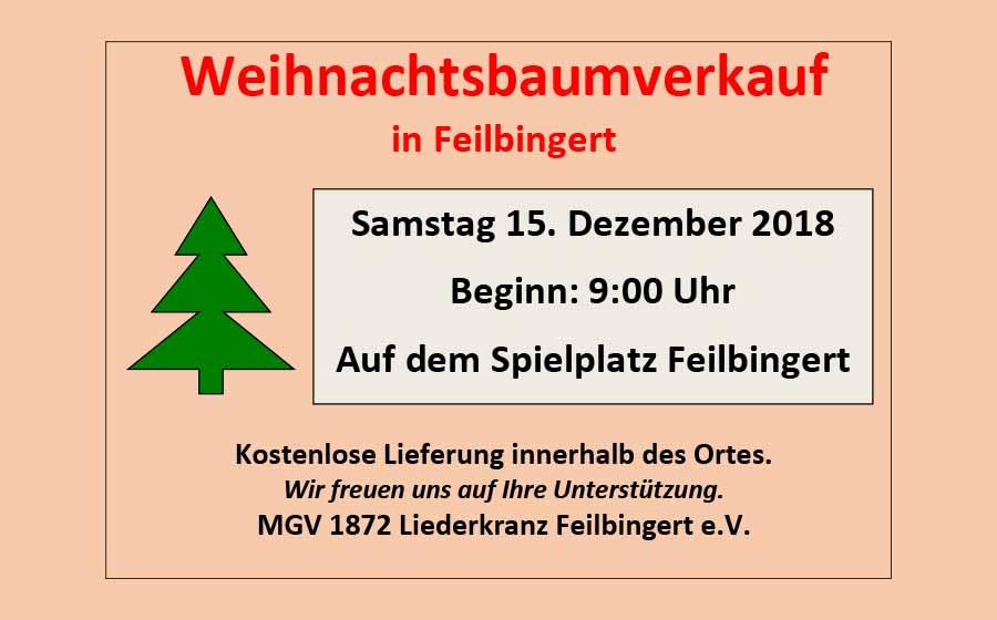 Weihnachtsbaumverkauf in Feilbingert
